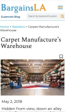 Carpet Manufacturers Warehouse review